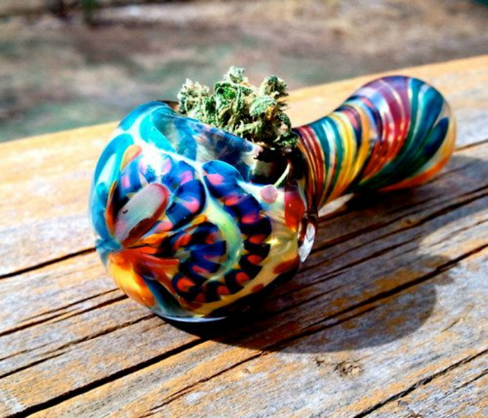 Smoking pot for the first time growing up chaotic for Glass fish pipe