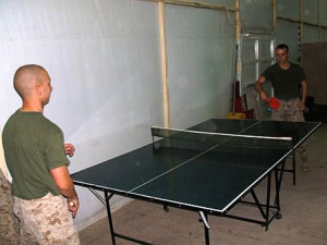 International Ping Pong Championship. Tom and Grant.